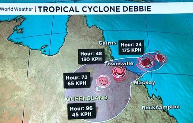 Στο έλεος του κυκλώνα «Ντέμπι» η ανατολική Αυστραλία (βίντεο)