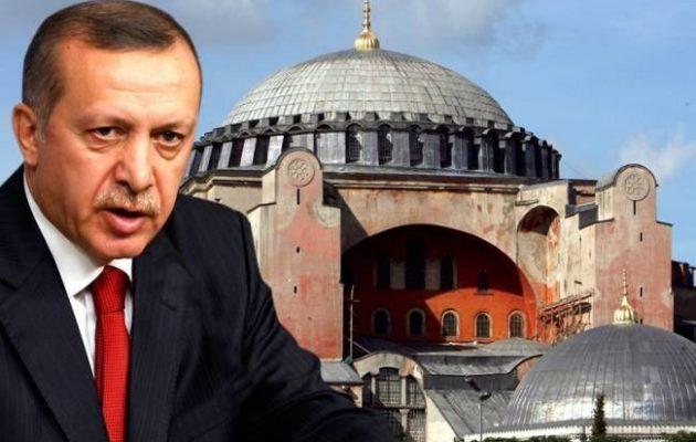 Μεγάλη Παρασκευή θα προσευχηθεί ο Ερντογάν στη Αγία Σοφία – Προκαλεί ευθέως τη χριστιανοσύνη
