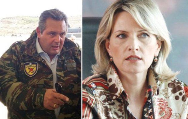 Ψυχολογικά προβλήματα στην Αλβανίδα υπουργό Άμυνας προκάλεσε ο Καμμένος