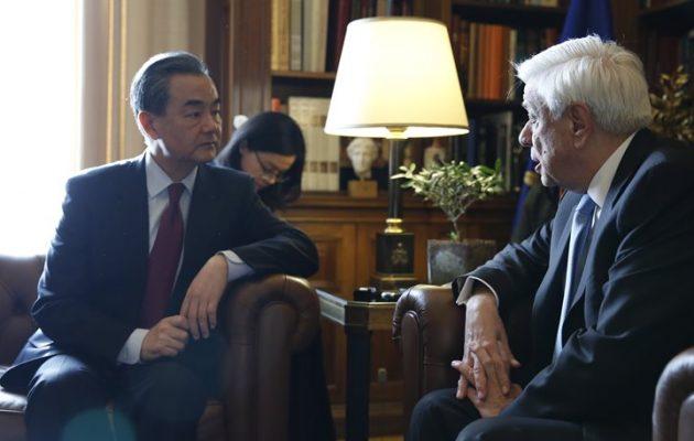 Προκόπης Παυλόπουλος σε Γουάνγκ Γι: Η συνεργασία Ελλάδας-Κίνας είναι για το καλό όλου του κόσμου