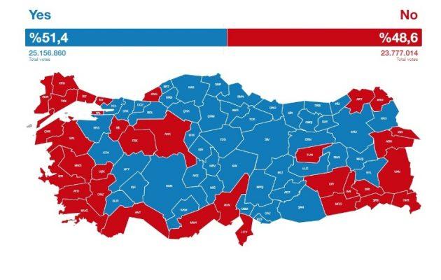 Πύρρειος νίκη Ερντογάν – Βαθιά διχασμένη η Τουρκία αντικρίζει τον χάρτη του διαμελισμού της