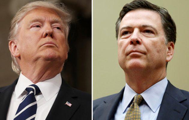 Τραμπ: «Γλίτσα» και «βύσμα» ο Κόμεϊ – Μακράν ο χειρότερος διευθυντής του FBI