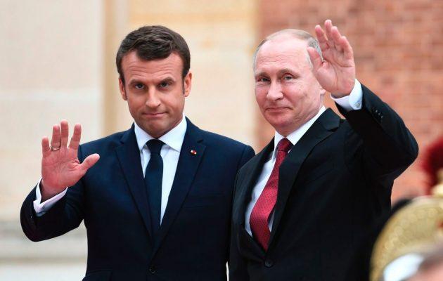 Εμανουέλ Μακρόν και Βλάντιμιρ Πούτιν θα συζητήσουν για Συρία, Ιράν και Ουκρανία
