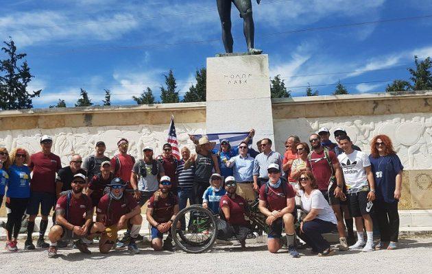 19 Αμερικανοί πεζοναύτες έκαναν την πορεία του Λεωνίδα από τη Σπάρτη στις Θερμοπύλες