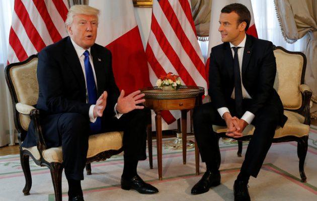 Τραμπ και Μακρόν θα συναντηθούν πριν τη Σύνοδο Κορυφής του ΝΑΤΟ
