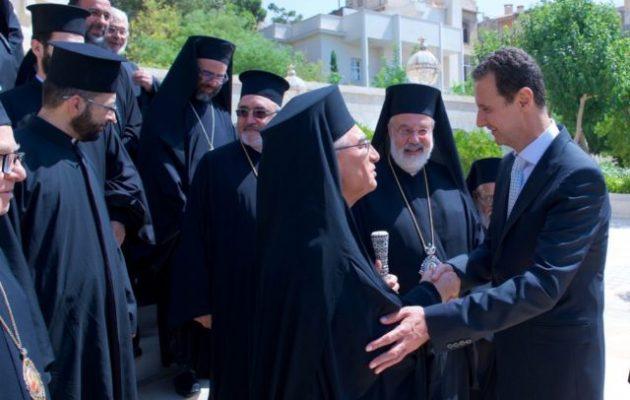 Τον Μπασάρ Αλ Άσαντ επισκέφθηκε ο Προκαθήμενος της Μελχίτικης Ελληνικής Καθολικής Εκκλησίας