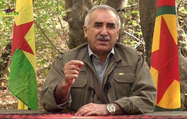 Μουράτ Καραγιλάν (PKK): Εάν οι Τούρκοι επιτεθούν στους Κούρδους της Συρίας θα είναι σαν Τρίτος Παγκόσμιος Πόλεμος