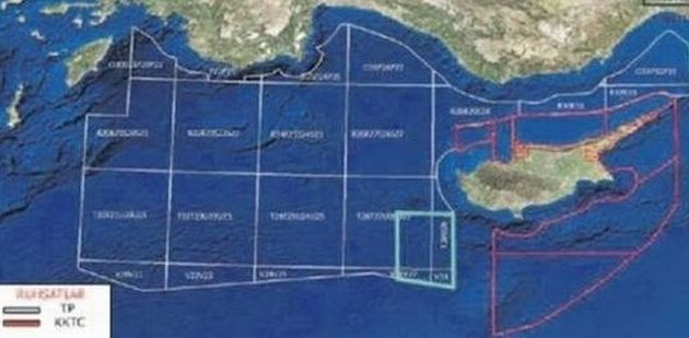 Τουρκικός χάρτης: Εξαφάνισαν το Καστελόριζο και θεωρούν δική τους την ΑΟΖ μεταξύ Ρόδου και Κύπρου