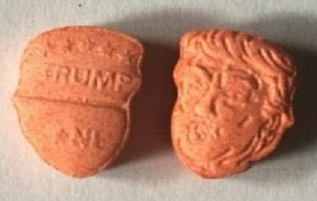 Χάπια έκσταση με το πρόσωπο του Τραμπ κυκλοφορούν στην αγορά της Βρετανίας