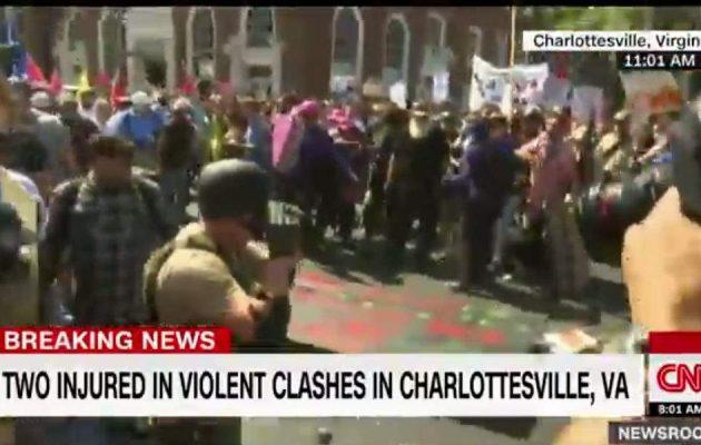 ΗΠΑ: Σε κατάσταση συναγερμού η Βιρτζίνια – Συγκρούσεις με τραυματίες σε φασιστική συγκέντρωση