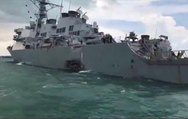 Δεξαμενόπλοιο εμβόλισε το αμερικανικό αντιτορπιλικό «Τζον Μακέιν» στη Νότια Σινική Θάλασσα