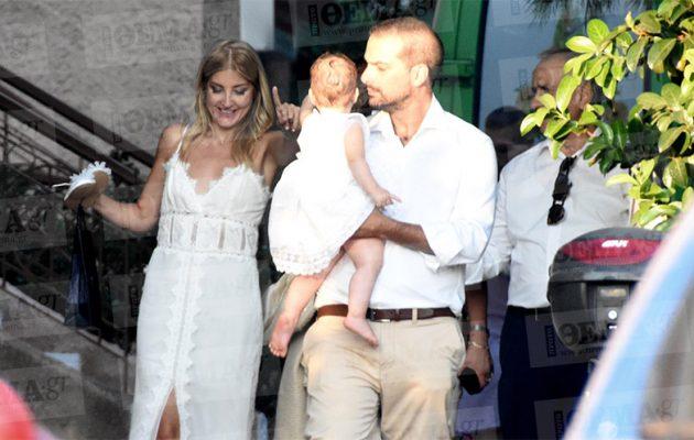 Βάφτισαν την κόρη τους Ράνια Τζίμα και Γαβριήλ Σακελλαρίδης