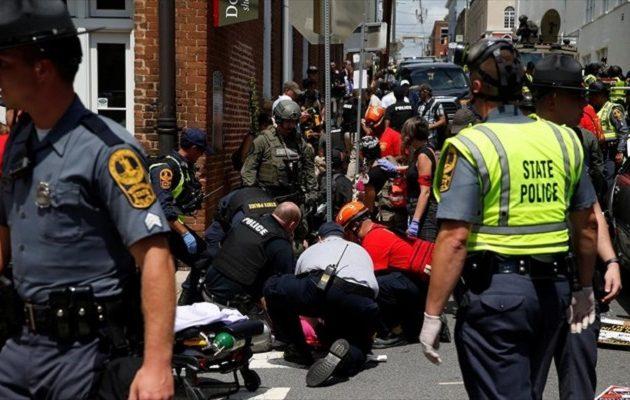 Ένας νεκρός στα βίαια επεισόδια που ξέσπασαν με αφορμή την εκδήλωση ακροδεξιών στη Βιρτζίνια