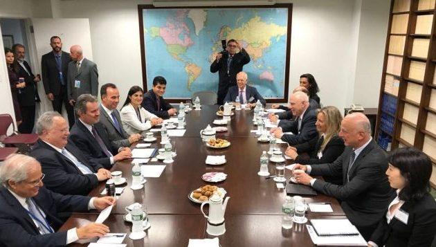 Με Εβραίους της Αμερικής, Άραβες, Λίβυους και Ουκρανούς συναντήθηκε ο Κοτζιάς στον ΟΗΕ