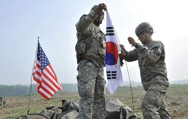 ΗΠΑ και Νότια Κορέα ανέβαλαν «επ' αόριστον» δύο κοινά στρατιωτικά γυμνάσια