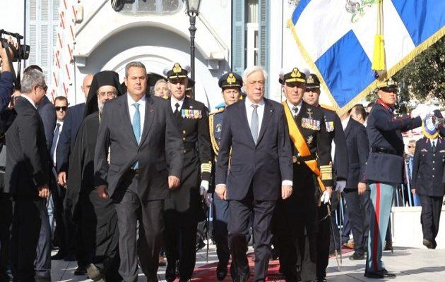 """Παυλόπουλος: Θα λέμε πάντοτε ένα ανυποχώρητο """"ΟΧΙ"""" – Hχηρό μήνυμα σε Τουρκία, Σκόπια και Αλβανία"""