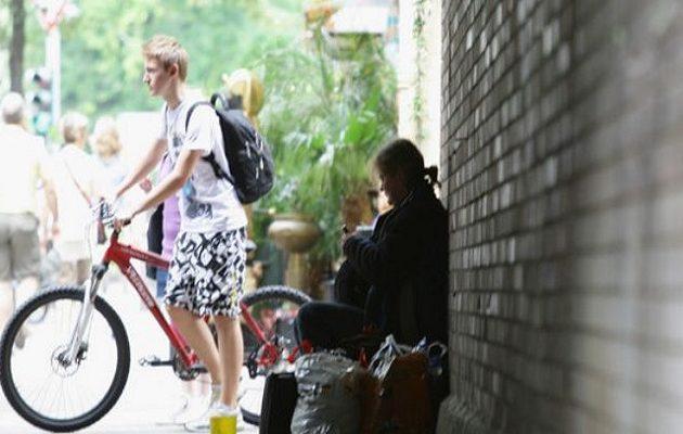 Δραματική αύξηση των αστέγων στη Γερμανία μέσα σε τρία χρόνια
