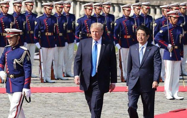 """""""Μπαράζ"""" απειλών για βόμβες από όταν πάτησε ο Τραμπ το πόδι του στην Ιαπωνία"""