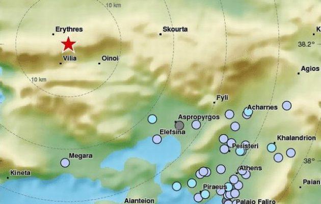 Σεισμός αισθητός στην Αθήνα στις 09.43 με επίκεντρο τη Βοιωτία