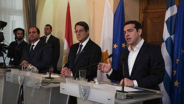 Ενέργεια και οικονομία «κλειδώνουν» στην τριμερή Ελλάδας-Κύπρου-Αιγύπτου