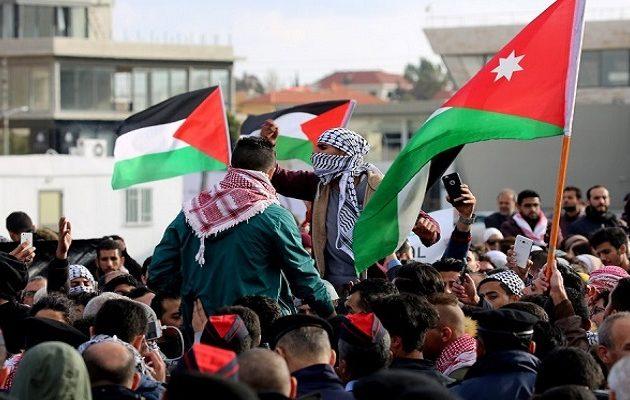Οργή σε Τυνησία- Ιορδανία: «Όχι αμερικανική πρεσβεία στο ιορδανικό έδαφος- Θάνατος στο Ισραήλ»