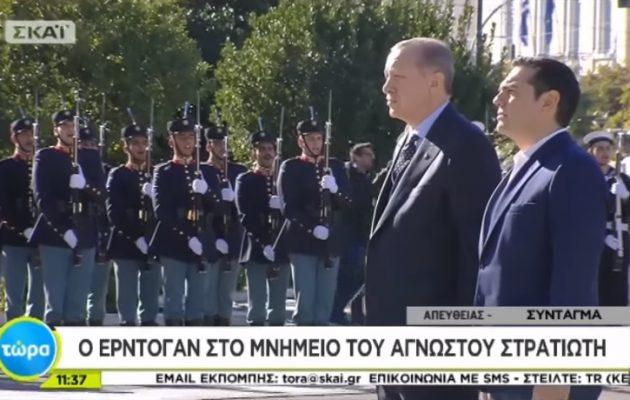 Ανατριχίλα! Οι Ευέλπιδες έψαλαν τον εθνικό ύμνο βροντερά μπροστά στον Ερντογάν (βίντεο)