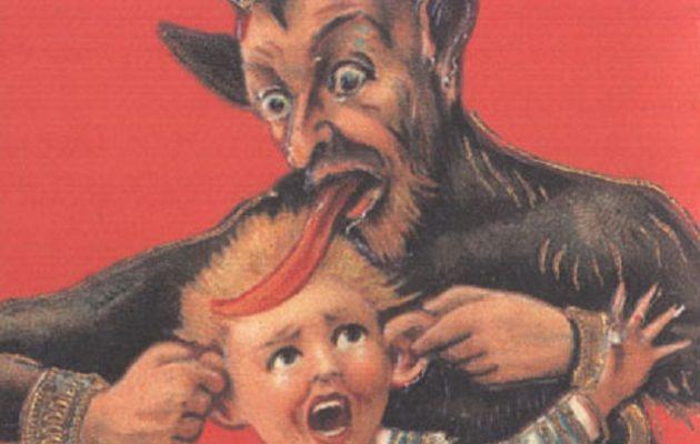 """Αχ αυτοί οι Γερμανοί: Έχουν και άγριο Άγιο Βασίλη, που βασανίζει τα """"κακά""""  παιδιά! (φωτο)"""