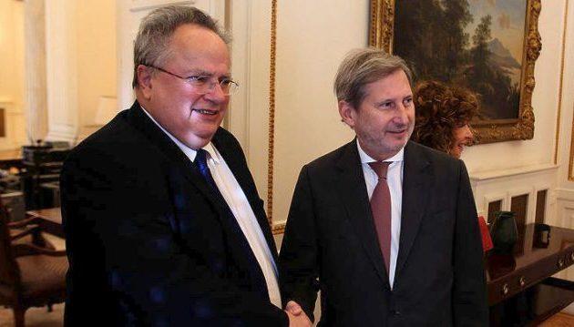 Τι είπαν Κοτζιάς-Χαν για τη διεύρυνση της ΕΕ, την Αλβανία και τα Σκόπια
