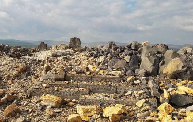 Οι Τούρκοι βομβάρδισαν και ισοπέδωσαν αρχαίο ναό 3.300 ετών στην Αΐν Νταρά της Εφρίν (φωτο)