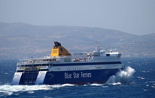 Σεσημασμένος κακοποιός ο άνδρας που πήδηξε στη θάλασσα από το Blue Star Naxos