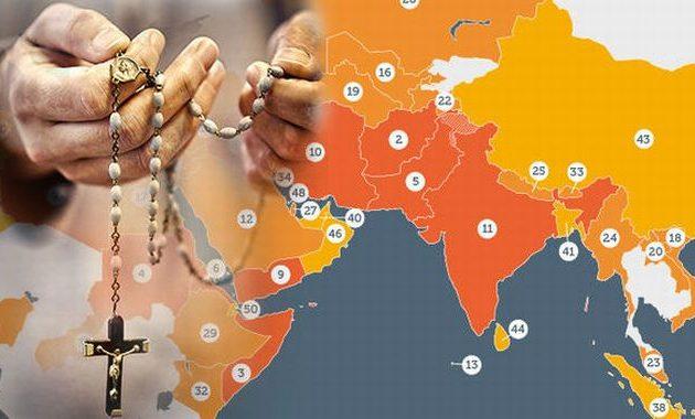 Ποιες είναι οι πιο επικίνδυνες χώρες του κόσμου για τους χριστιανούς – Ποια έχει την αντιχριστιανική πρωτιά