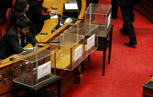 Δέκα κάλπες στη Βουλή για τoυς πολιτικούς που εμπλέκονται στο σκάνδαλο Novartis