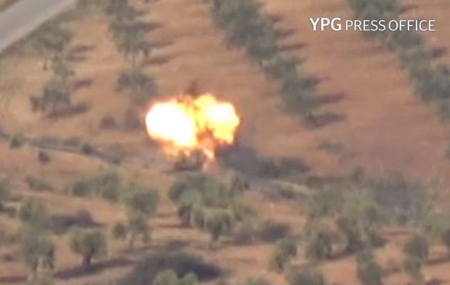 Οι Κούρδοι κατέστρεψαν και άλλο τουρκικό τεθωρακισμένο στην Εφρίν (βίντεο)