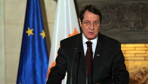 """Αναστασιάδης: Είμαστε σε «στενή συνεργασία"""" με την Ελλάδα για ΑΟΖ-Κυπριακό-Τουρκία"""
