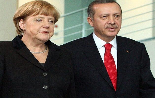 Μέρκελ και Ερντογάν συνομίλησαν για τη Συρία
