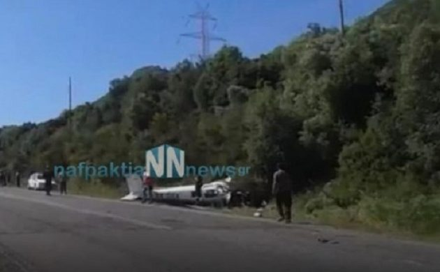Συνετρίβη μονοκινητήριο αεροπλάνο στη Φωκίδα: Δυο νεκροί (βίντεο)