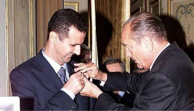 """Οργή Άσαντ για το μετάλλιο Σιράκ – Γάλλοι, είστε «σκλάβοι"""""""
