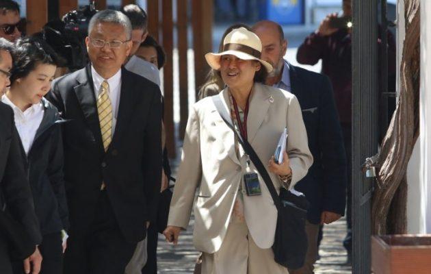 Η πριγκίπισσα της Ταϊλάνδης επισκέφθηκε το μινωικό ανάκτορο στην Κνωσό