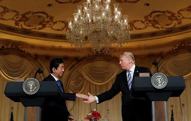 Τι συμφώνησαν Τραμπ – Άμπε για την «πίεση» στη Βόρεια Κορέα