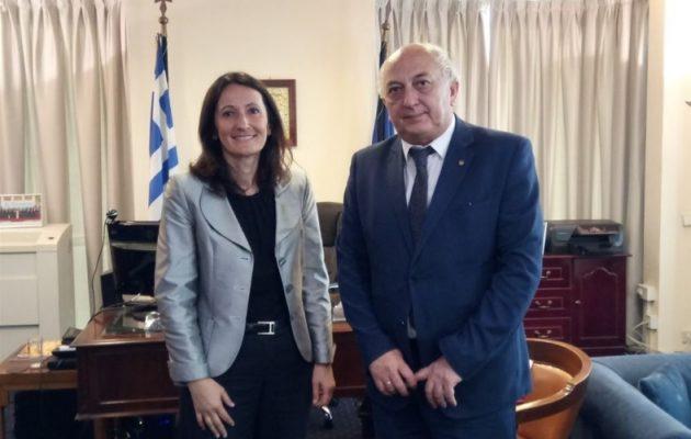 Τι συζήτησε ο Αμανατίδης με την Πρέσβη της Σλοβενίας