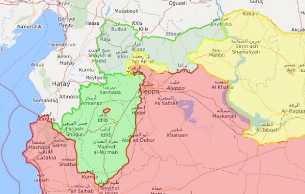 Σφοδροί αεροπορικοί βομβαρδισμοί στην τουρκοκρατούμενη βορειοδυτική Συρία
