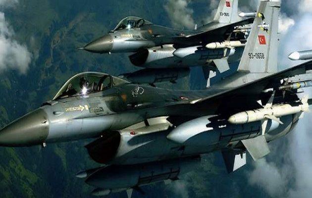 Τουρκικά F-16 πέταξαν πάνω από τέσσερα ελληνικά νησιά