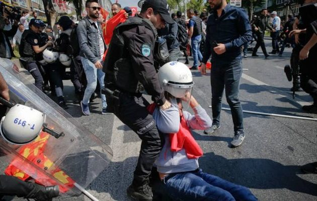 Επεισόδια στις «απαγορευμένες» συγκεντρώσεις για την Πρωτομαγιά στην Τουρκία (φωτο)