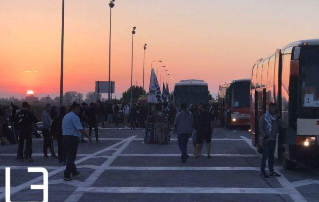 H κάθοδος των οπαδών του ΠΑΟΚ στην Αθήνα (βίντεο)