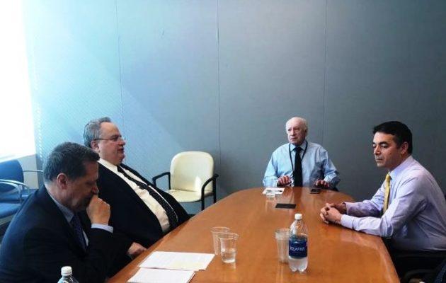 Ξεκίνησε ο δεύτερος γύρος συνομιλιών για το Σκοπιανό στον ΟΗΕ με Κοτζιά, Ντιμιτρόφ και Νίμιτς
