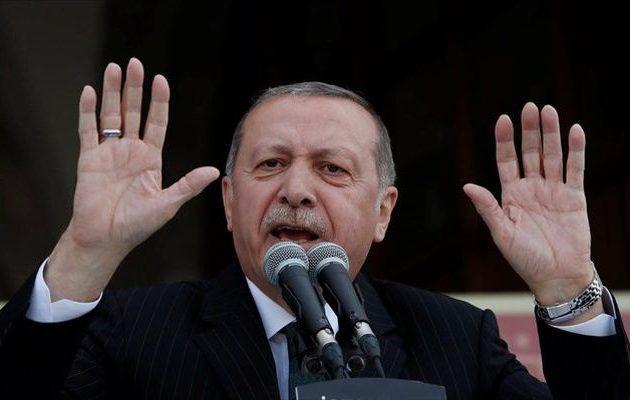 Νέο παραλήρημα Ερντογάν: Έχουμε δικαιώματα σε Αιγαίο και Μεσόγειο