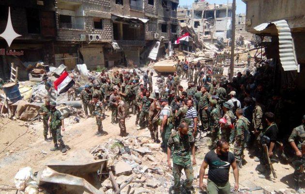 Για πρώτη φορά από το 2011 ολόκληρη η Δαμασκός υπό τον έλεγχο της συριακής κυβέρνησης