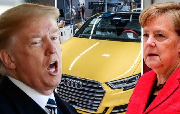 Ο Τραμπ «στραγγαλίζει» τη Γερμανία – «Θα εξαφανίσω τα γερμανικά αυτοκίνητα από τις ΗΠΑ»