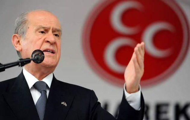 Σε παράκρουση ο Μπαχτσελί: «Μας στριμώχνουν στην Ανατολική Μεσόγειο» – «Θα πληρώσουν!»