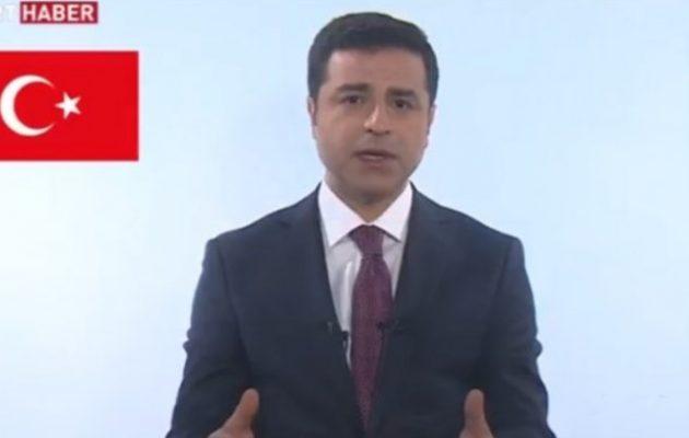 Επέτρεψαν στον Ντεμιρτάς τηλεοπτικό προεκλογικό μήνυμα μέσα από την τουρκική φυλακή